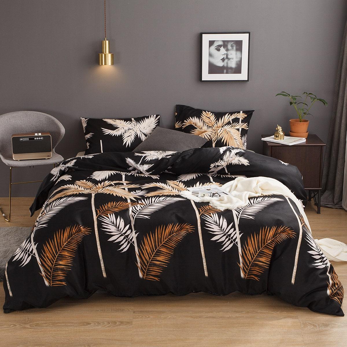 Set met palmboomprint