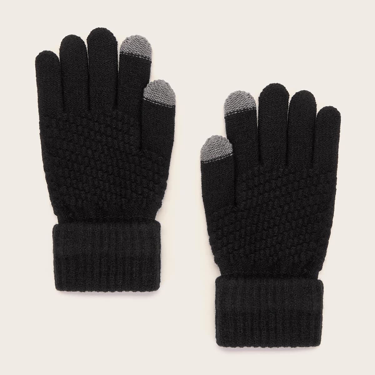 Трикотажные перчатки 1 пара от SHEIN
