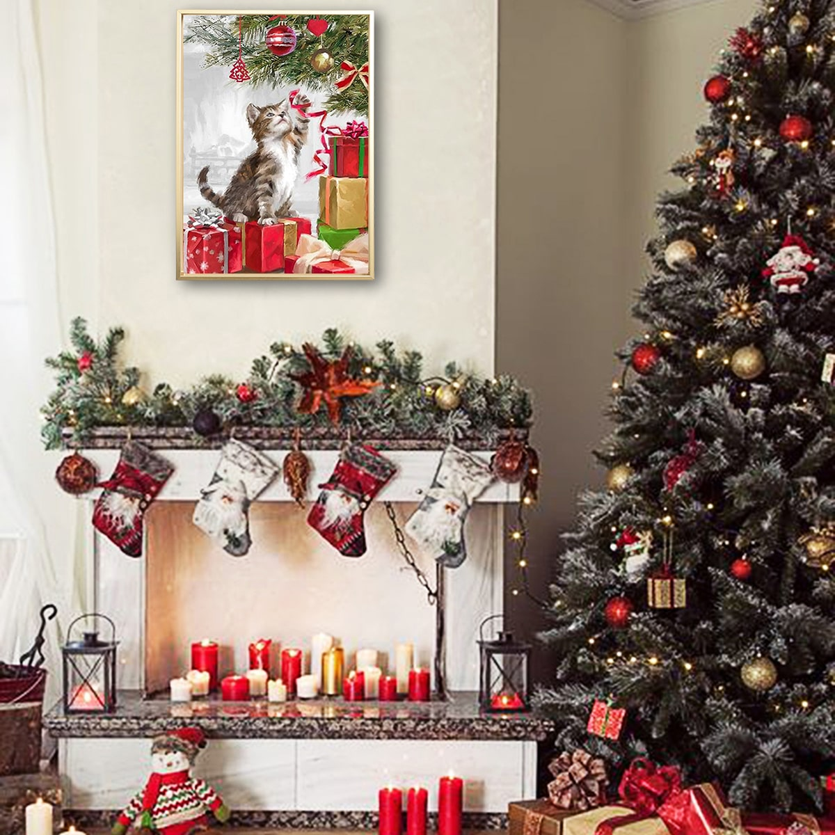 Christmas Wall Art Print Without Frame