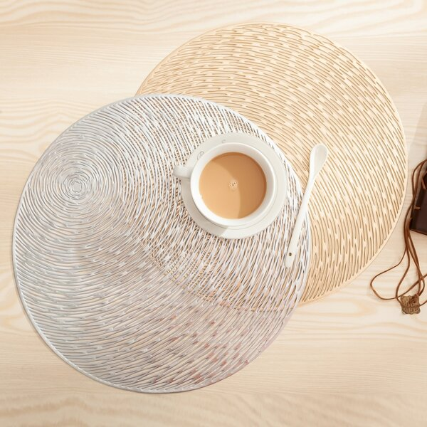 1pc Round Hollow Out Design Coaster