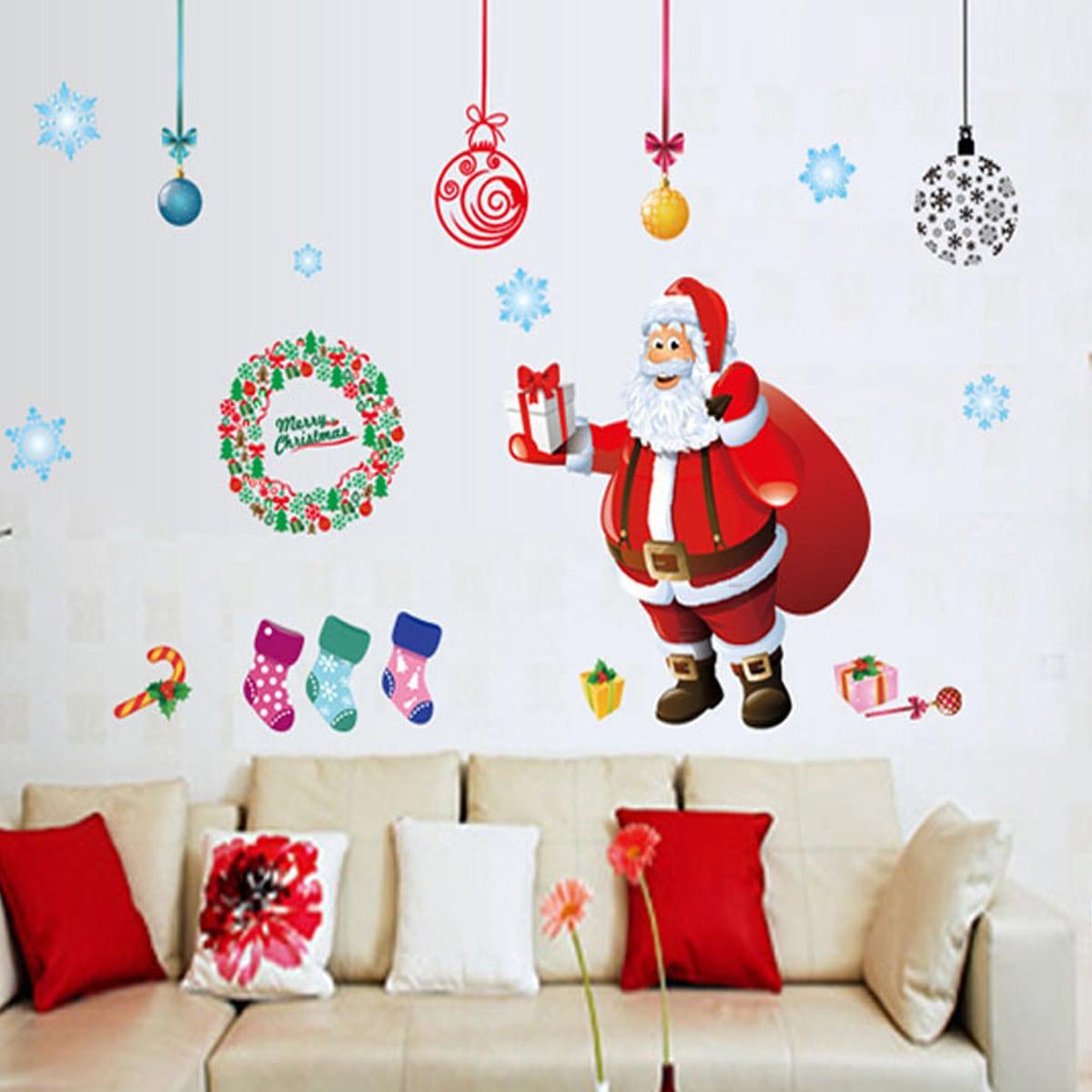 Muursticker kerstman print