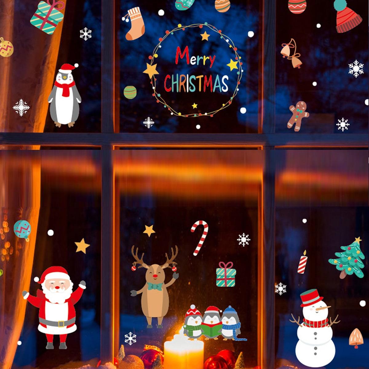 Muursticker kerstprint