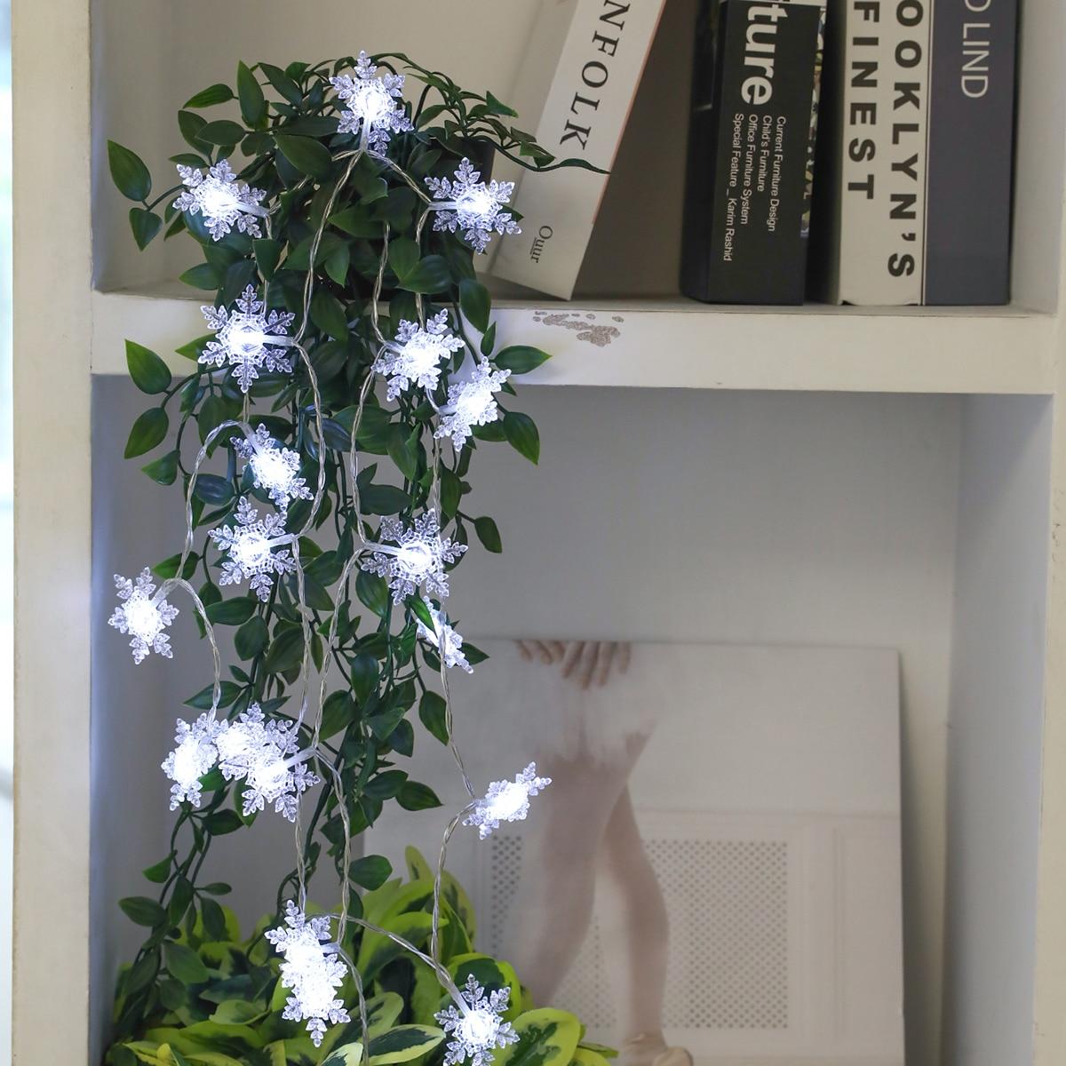 20 stks Sneeuwvlok Bulb String Light