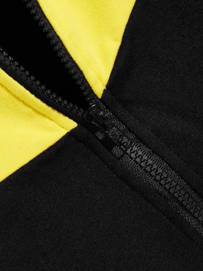 SheIn / Men Two Tone Pocket Front Zip Up Sweatshirt