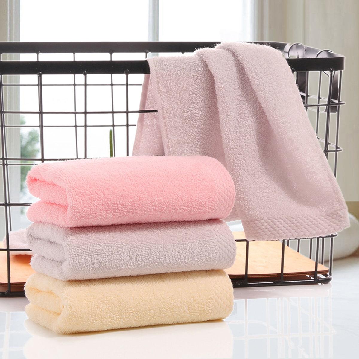 1pc absorberende handdoek van massief katoen