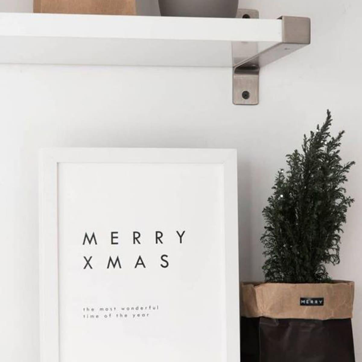 Christmas Slogan Wall Art Print Without Frame