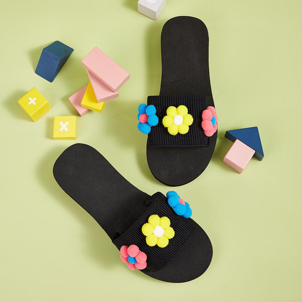 Zwart Comfortabel Kinder slippers