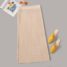 Plus Textured Sweater Skirt