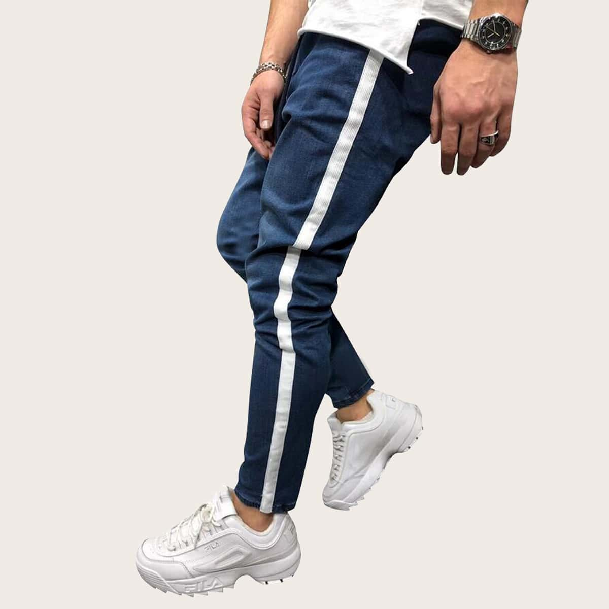 Marine Casual Heren Jeans Koord