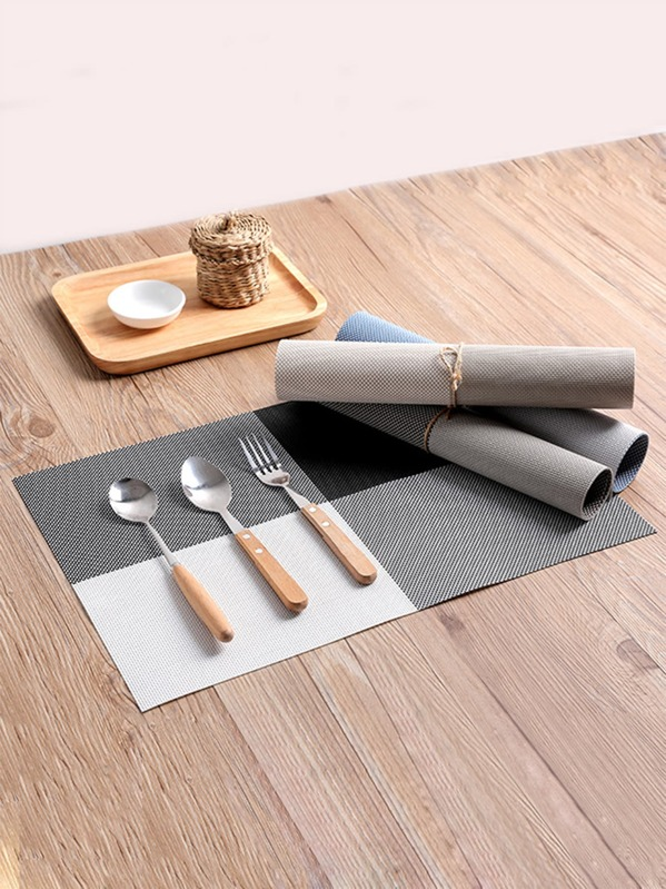 1pc Colorblock Braided Placemat