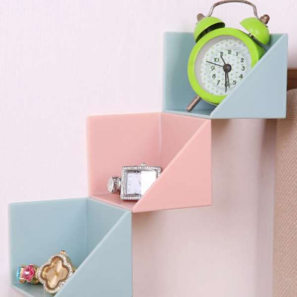 4pcs Wall Mounted Storage Rack, Multicolor