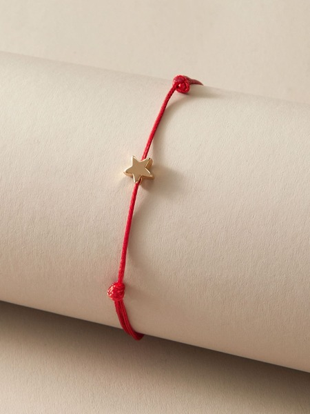 1pc Star Decor Braided Bracelet