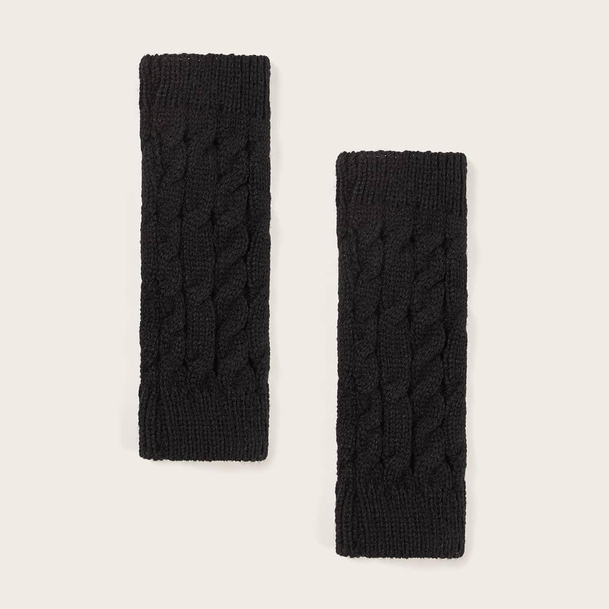 Вязаные перчатки с открытыми пальцами 1 пара от SHEIN