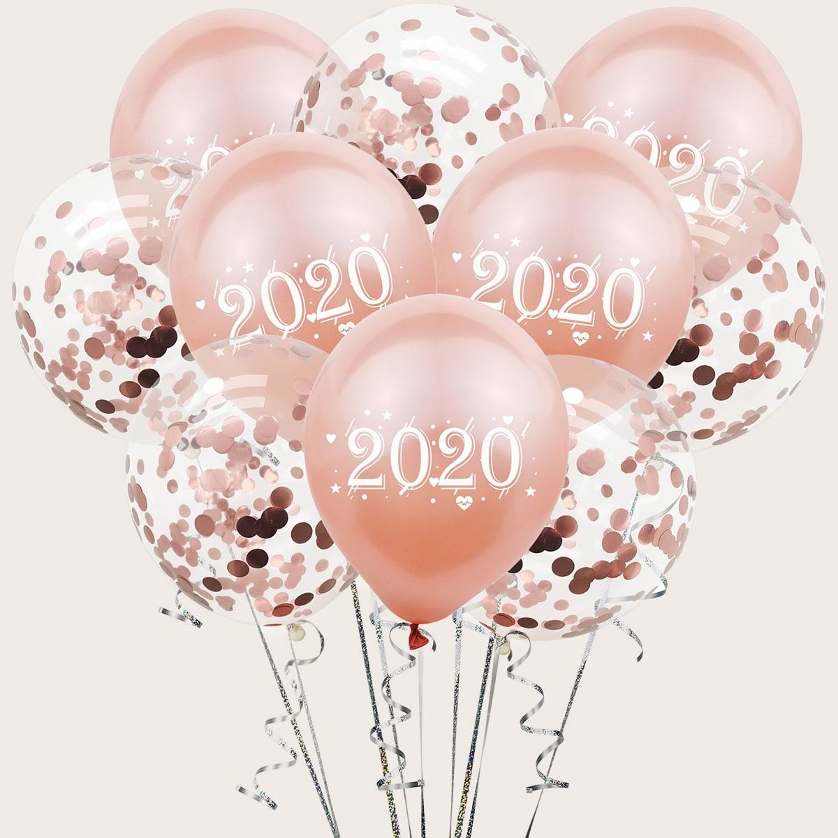SHEIN / 10 Stück Anzahl & Konfetti Ballon Set