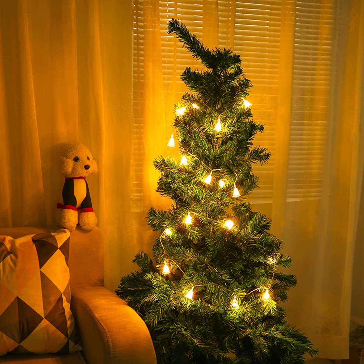 20 stks Christmas Clear Bell Bulb String Light