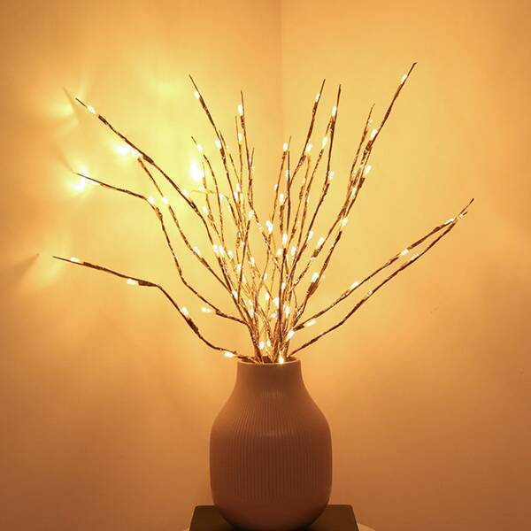 New Year 1pc Branch Design Decorative Light, Yellow