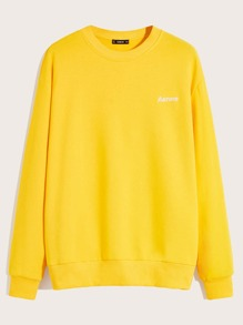 Embroider | Pullover | Yellow | Neon | Men