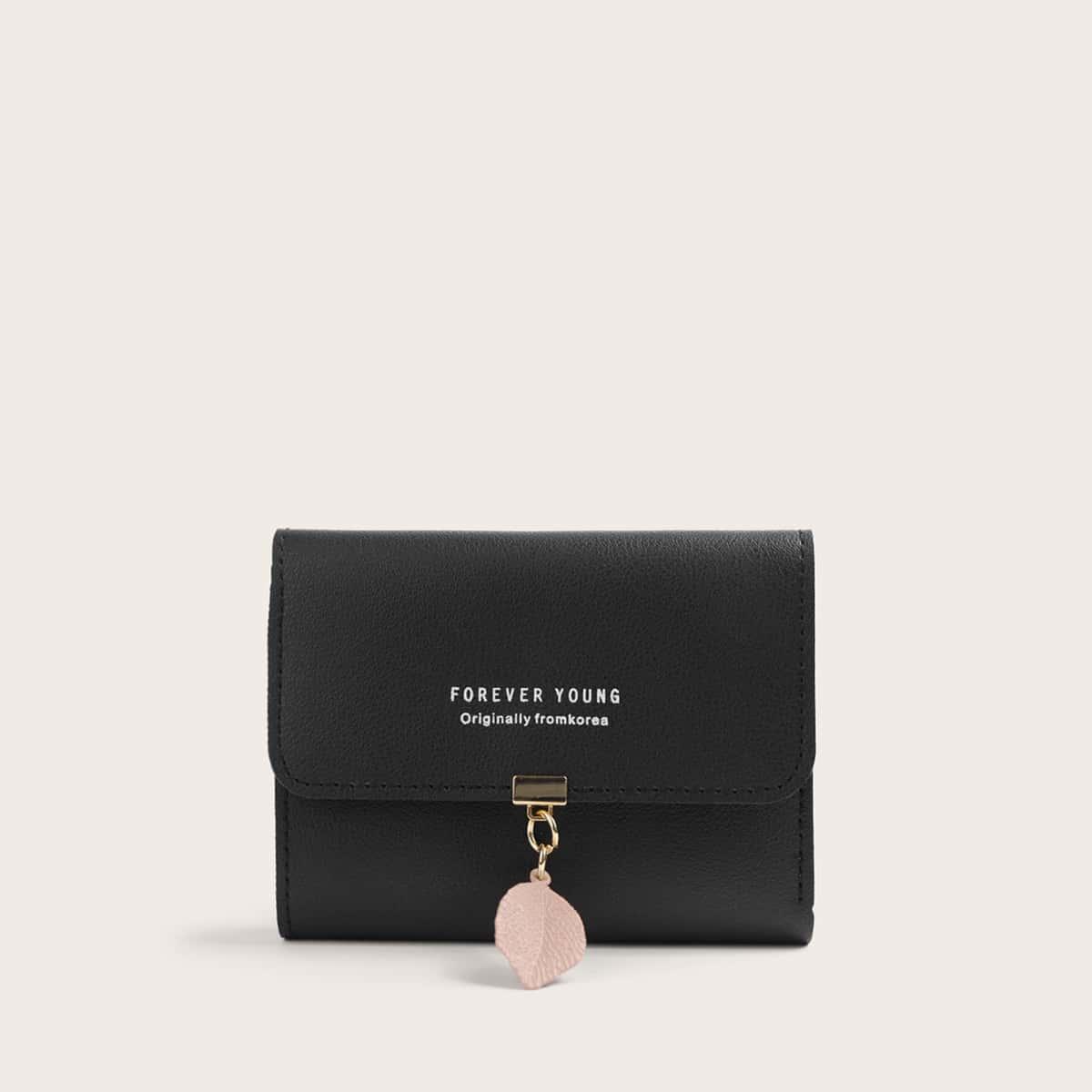 Скалдной кошелек с декором листа от SHEIN