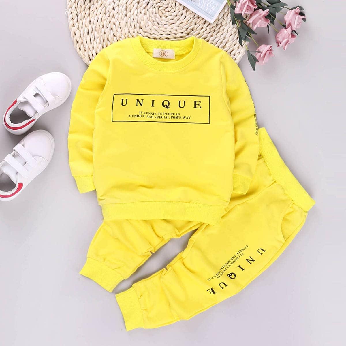 Sweatshirt en joggingbroek met print set