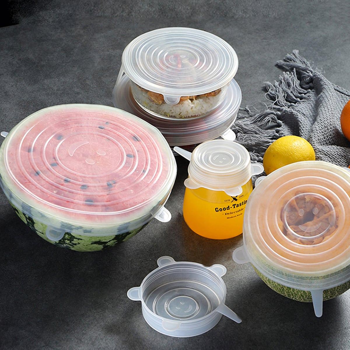 6 stks Willekeurig rekbaar voedsel Fresh Cover