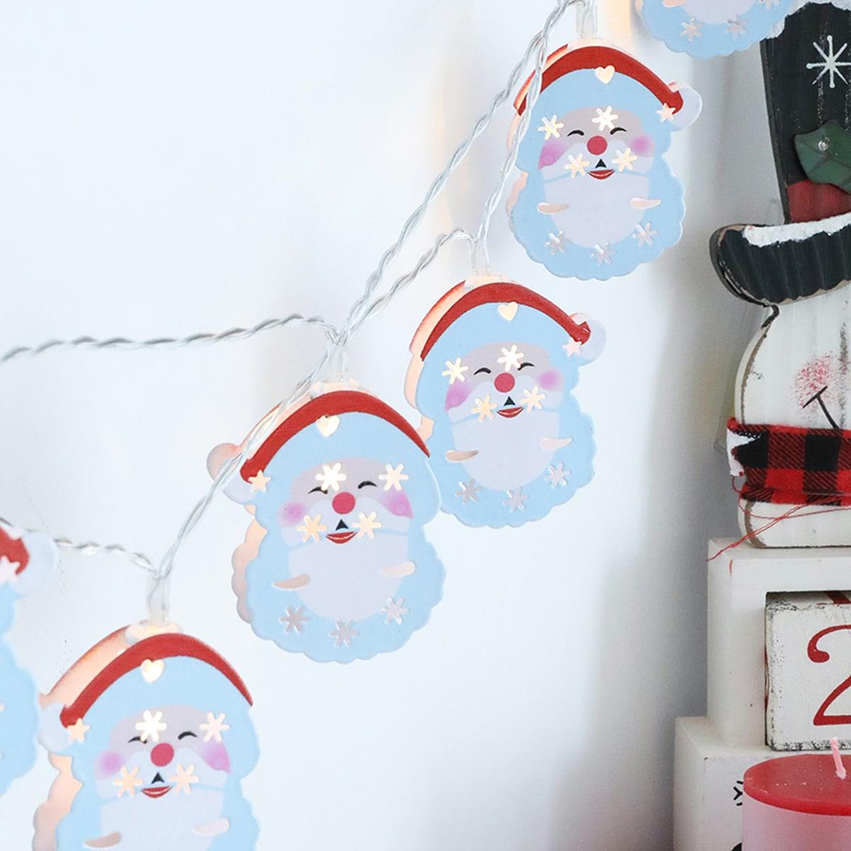 20 stks Kerst Kerstman Lamp String Licht