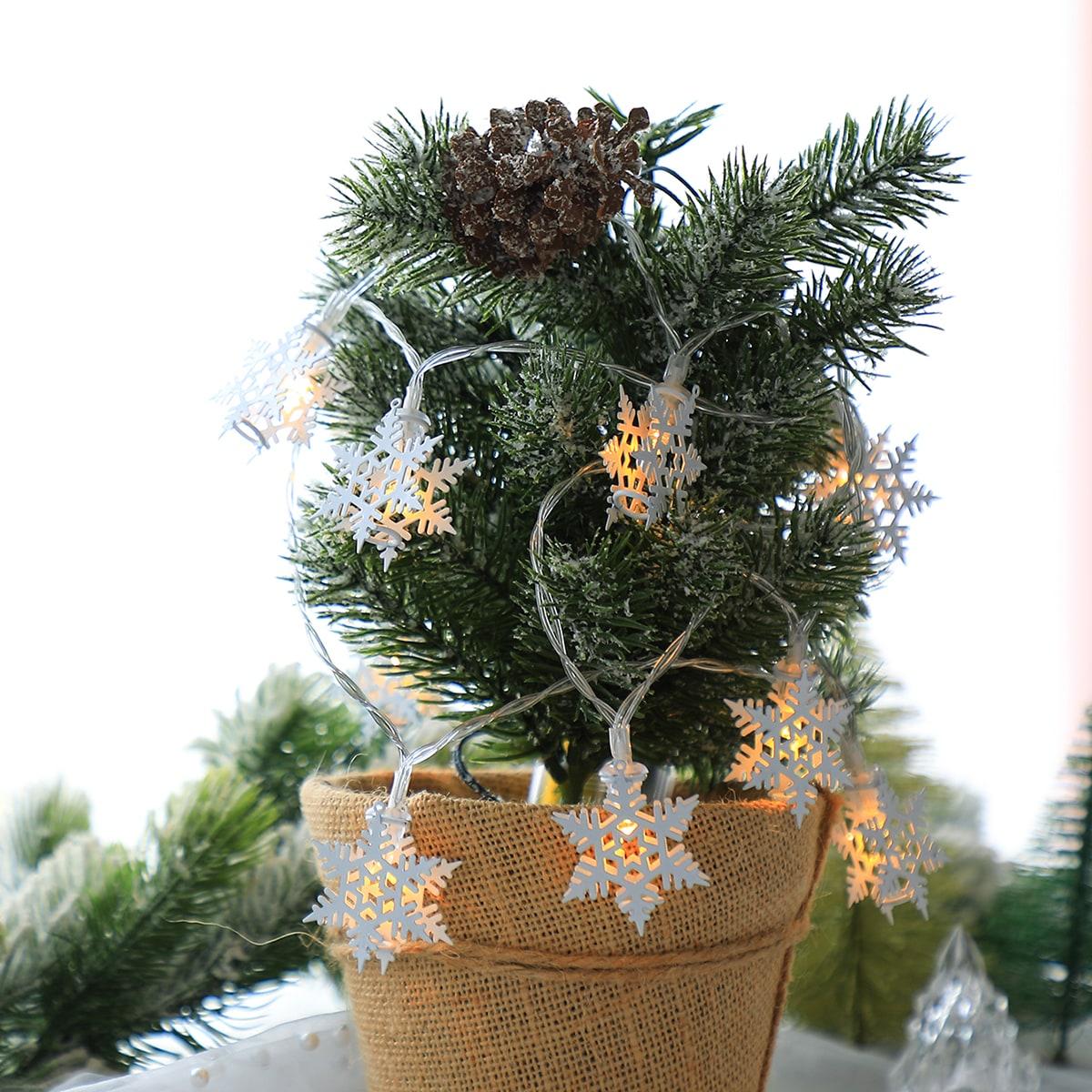 10 stks Sneeuwvlok Bulb String Light