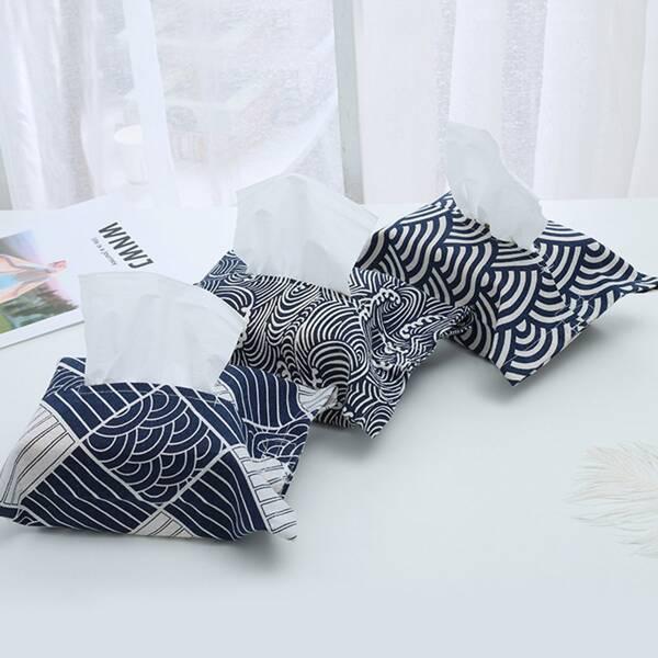 1pc Random Wave Pattern Tissue Storage Bag, Multicolor