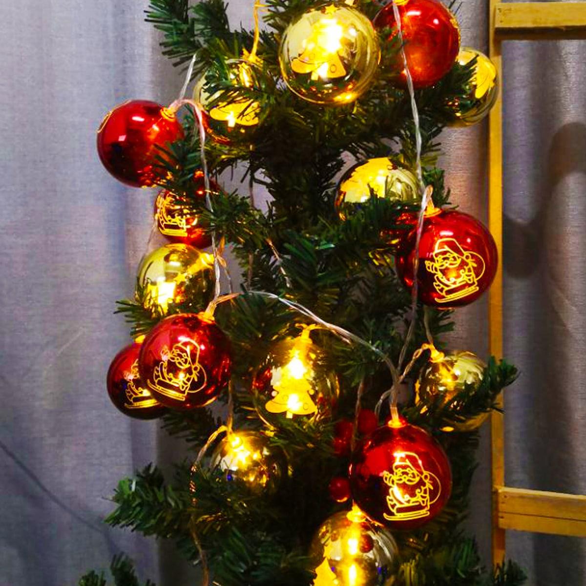 10 stks kerstbal lamp lichtslinger