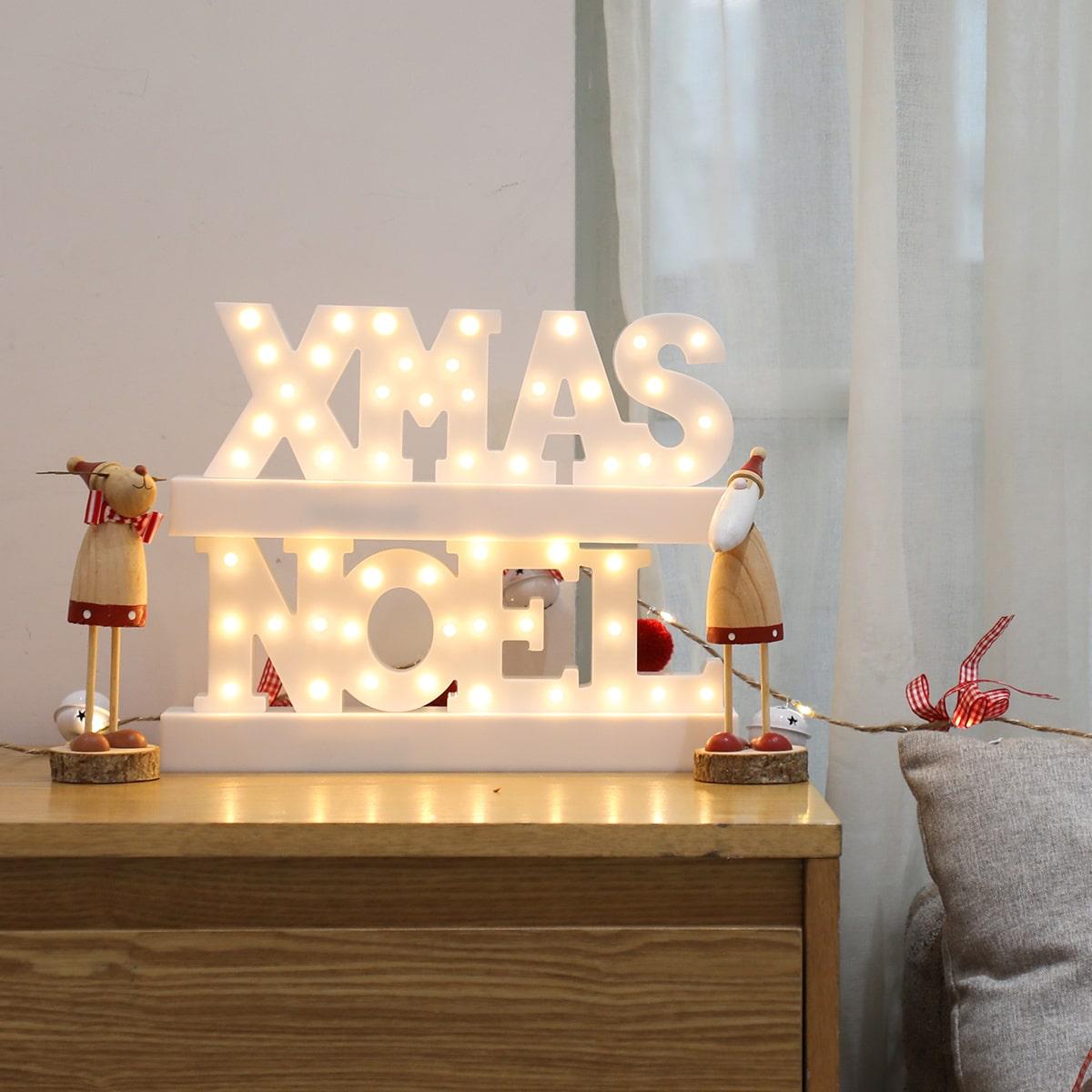 Kerst brief ontwerp nachtlampje
