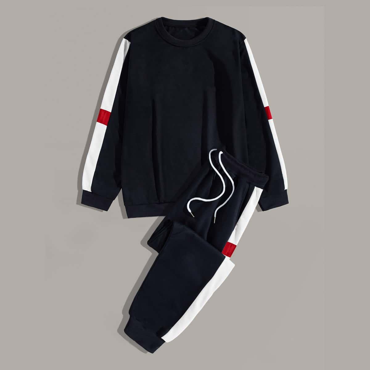 Мужские свитшот и спортивные брюки на кулиске от SHEIN