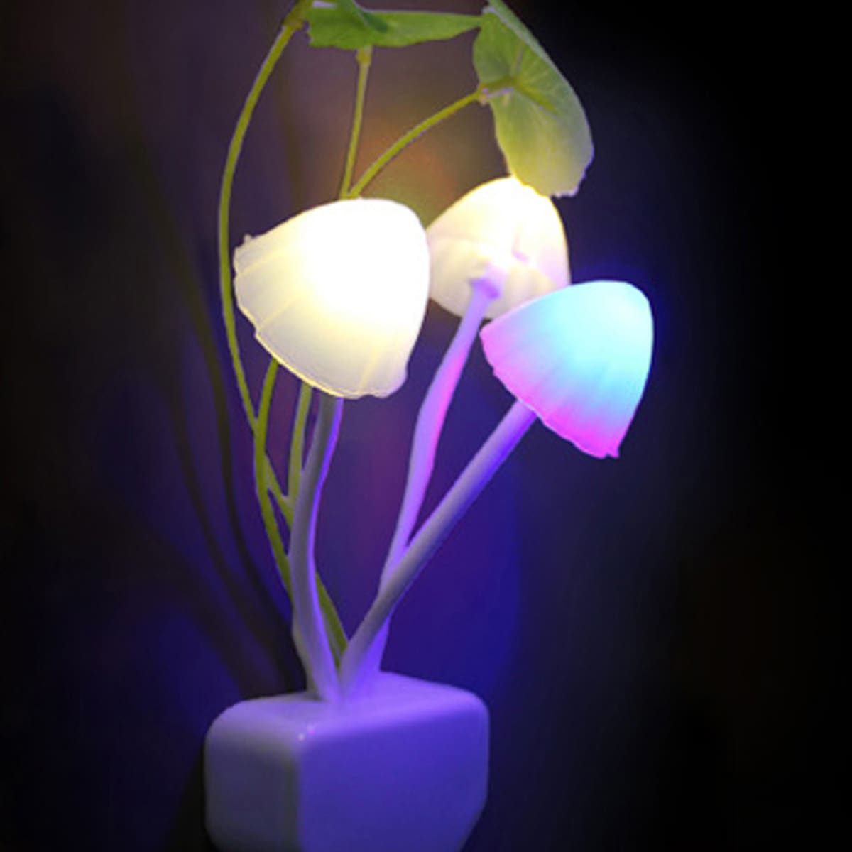 Kleur veranderende paddestoel nachtlampje
