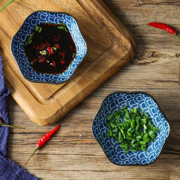 1pc Kitchen Ceramic Sauce Dish