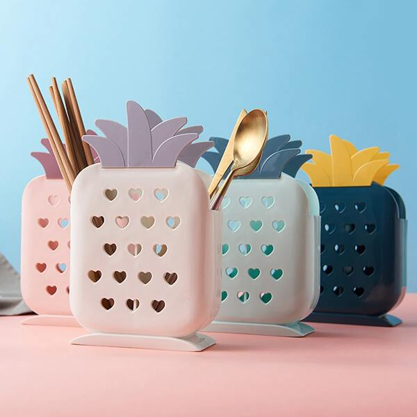 1pc Pineapple Shaped Chopsticks Storage Rack, Multicolor