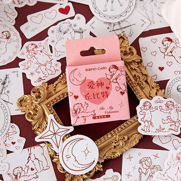 46pcs Cute Cupid Pattern Sticker