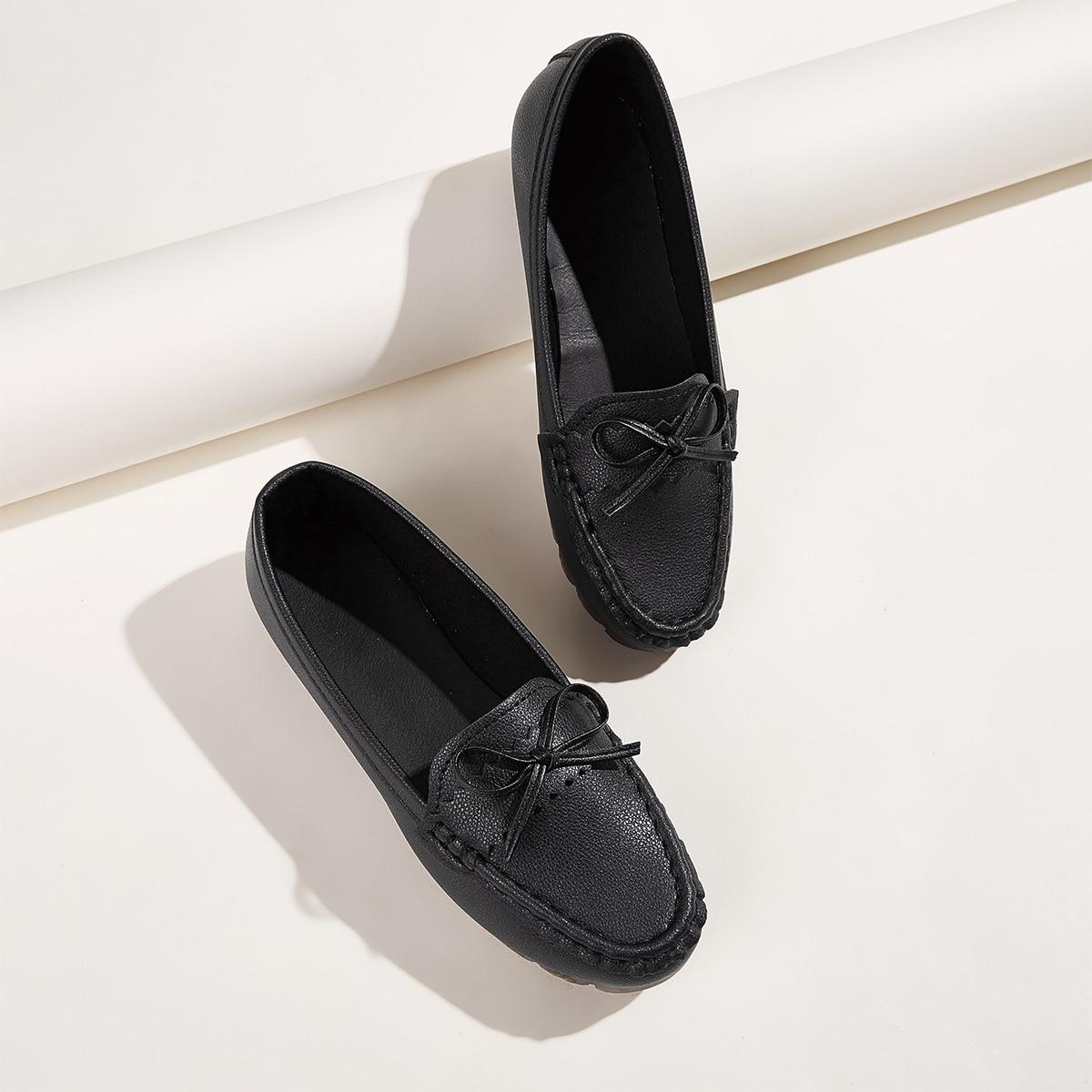 Zwart Comfortabel Ballerina's