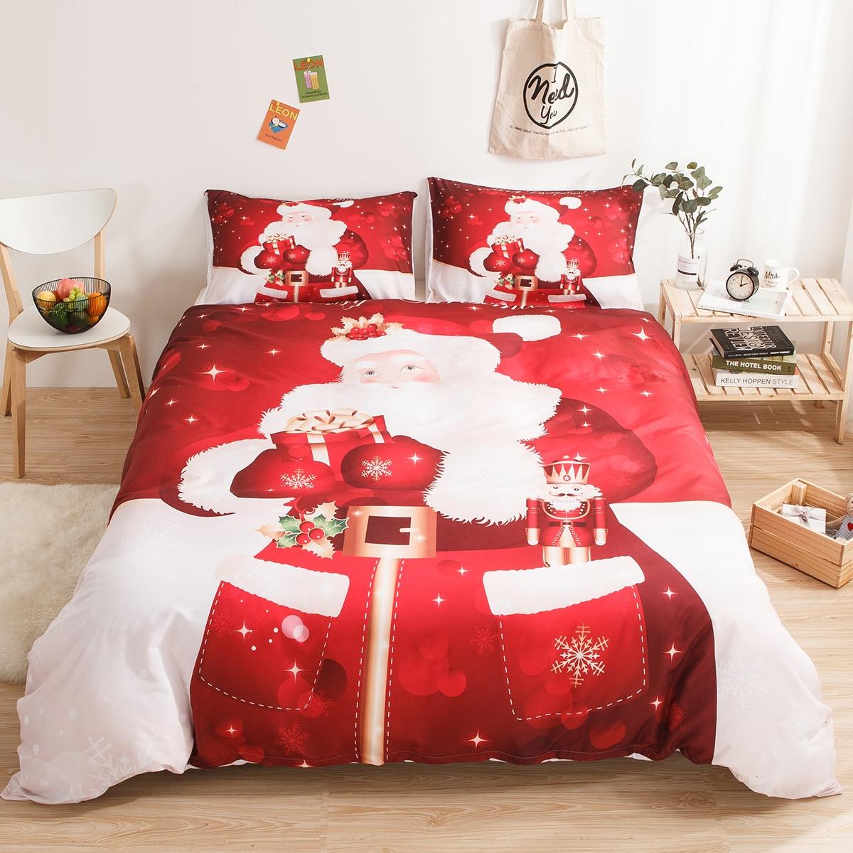 Kerst Santa Claus Print Sheet Set
