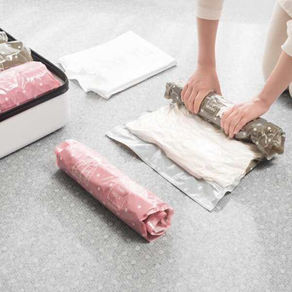 2pc Vacuum Compression Storage Bag, White