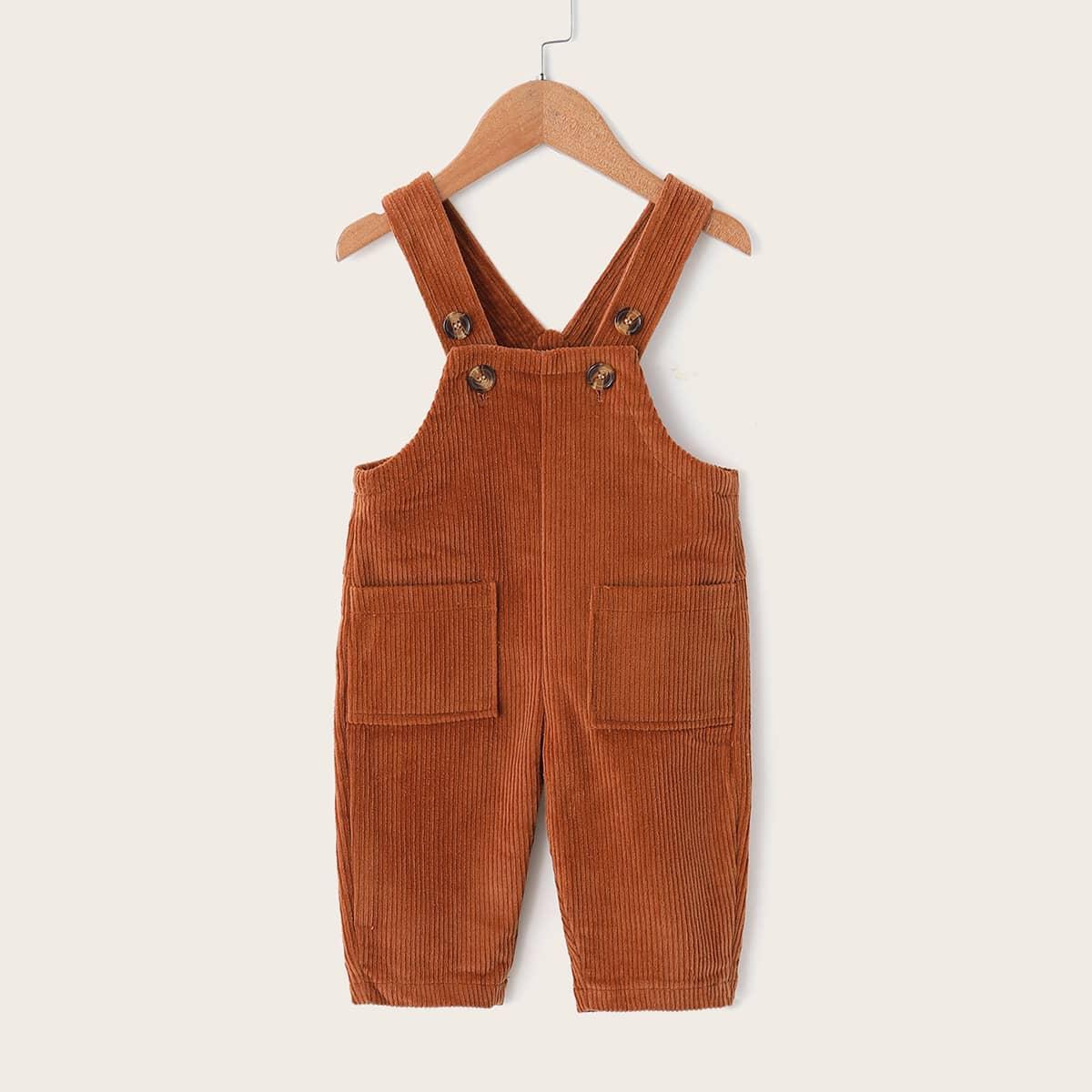 SHEIN / Kleinkind Mädchen Kord Jumpsuit mit doppelten Taschen