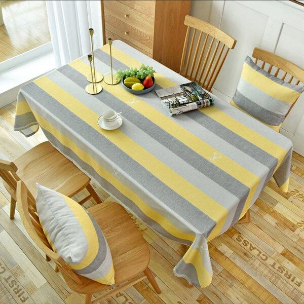 Striped Pattern Tablecloth, Multicolor
