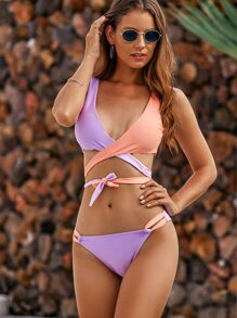 Bikini | Wrap | High | Cut | Top | Set