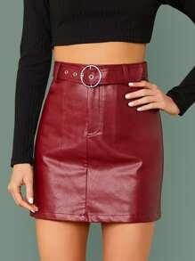 Leather | Skirt | Belt | Faux