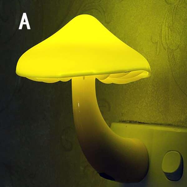 1pc Mushroom Shaped Light Sensor Night Light, Multicolor