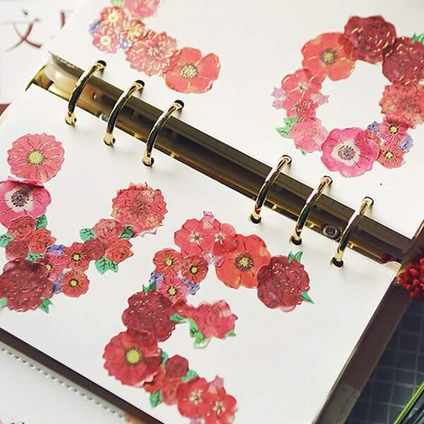 40pcs Flower Pattern Sticker
