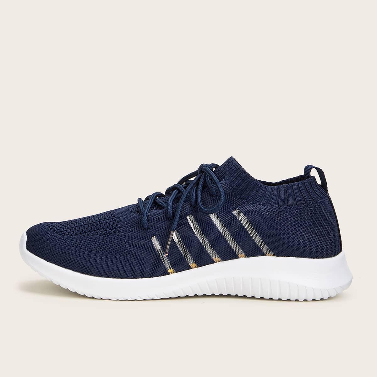 Marine Comfortabel Gestreept Heren sneakers