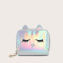 Girls Holographic Embroidered Detail Purse (skbag03191127556) photo