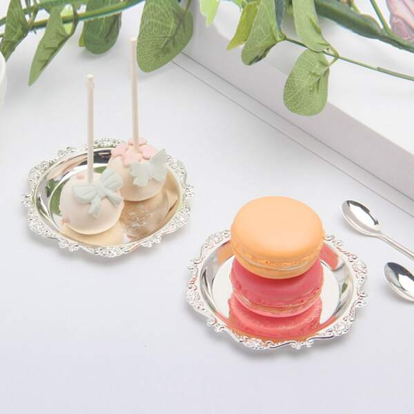 7pcs Metal Cake Charger Plate