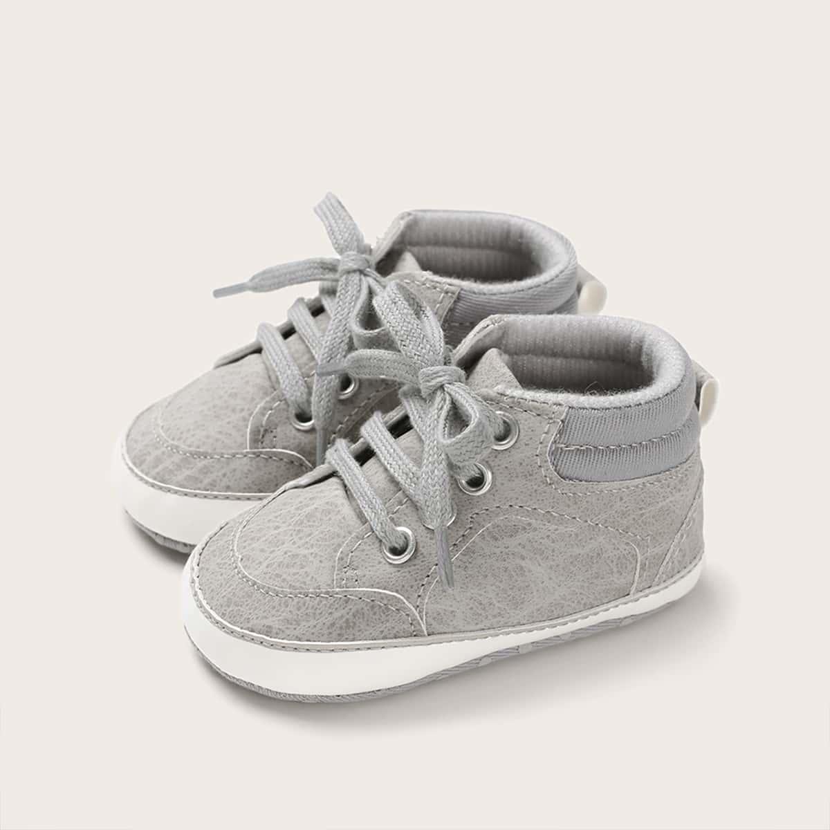 Grijs Comfortabel Vlak Baby sneakertjes