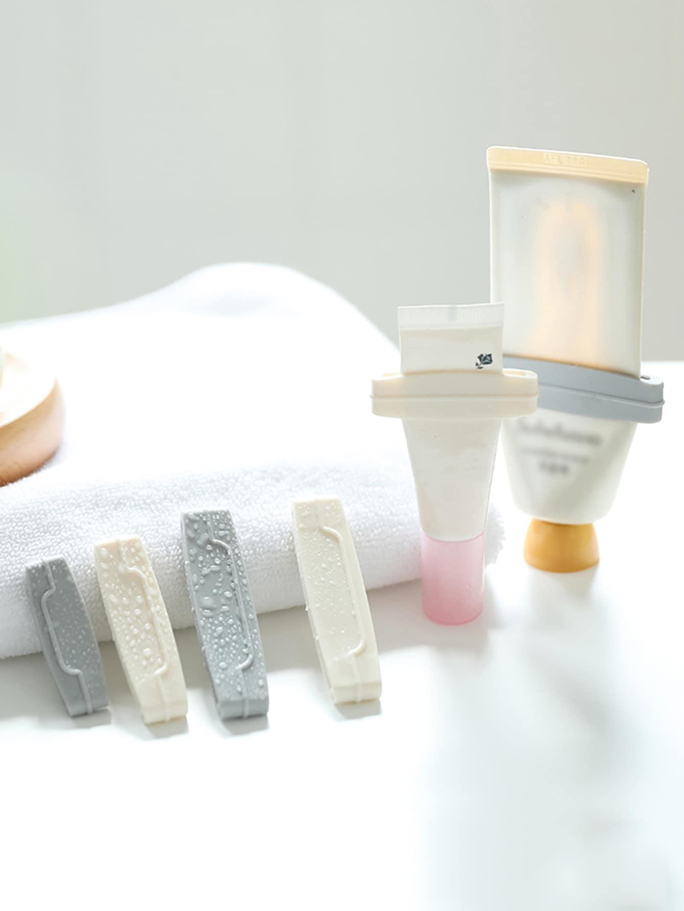 3pcs Simples Espremedor de pasta de dentes