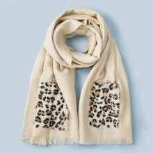 Écharpe avec motif léopard