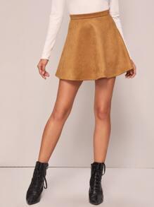 Suede | Skirt | Back | Mini